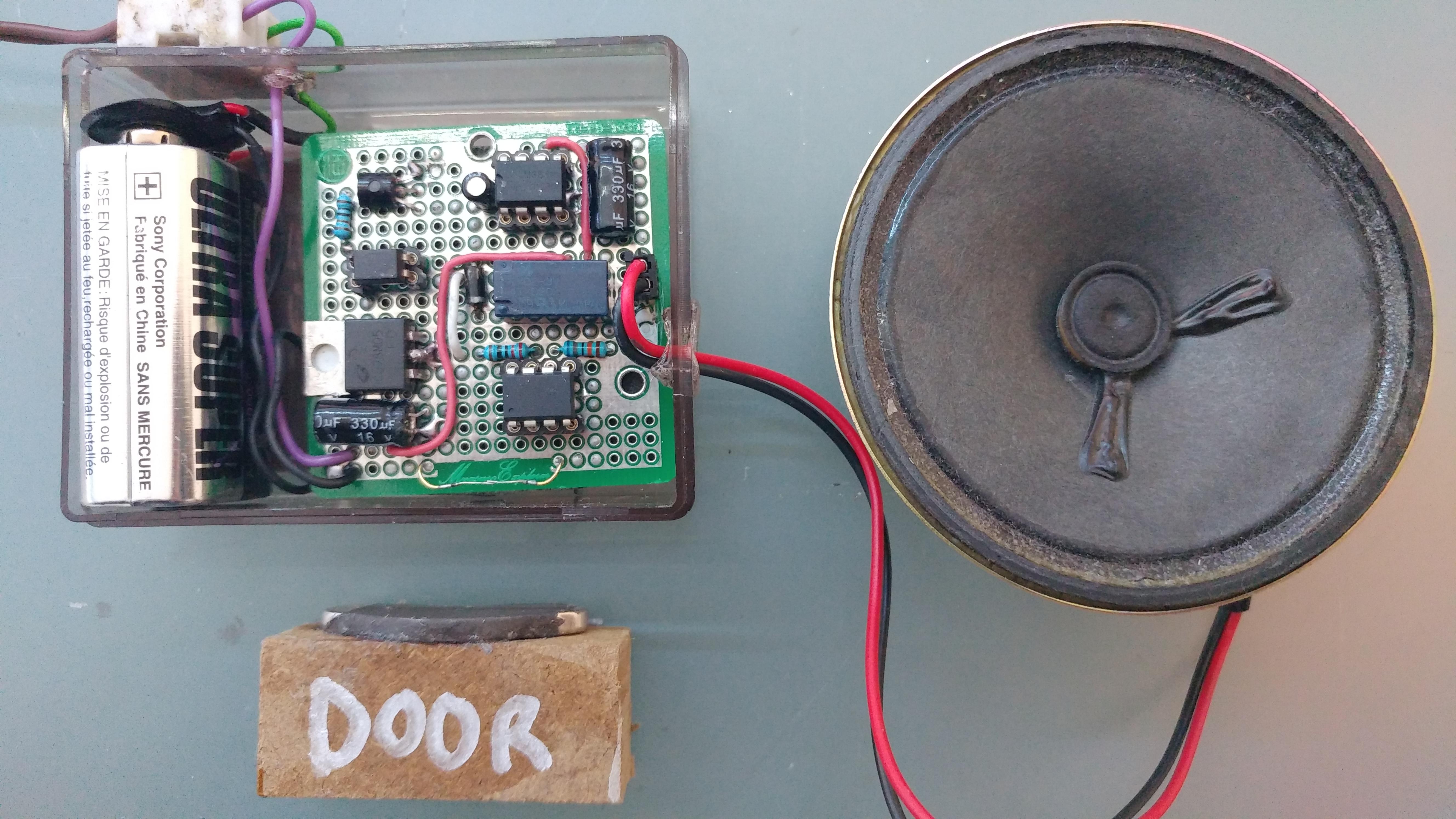 Picture of Door Alarm With ATTiny