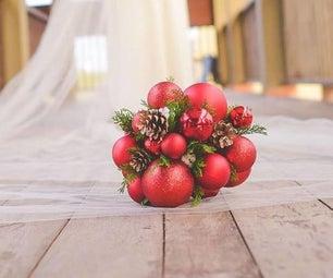 Christmas Bauble Wedding Bouquet