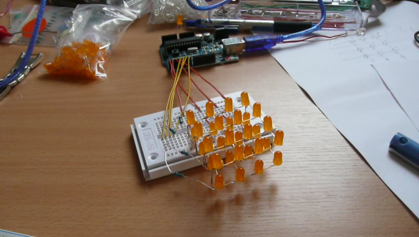 Picture of 4 X 4 X 4 Interactive Led-cube