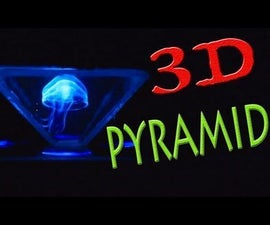 How to make a holographic 3D pyramid
