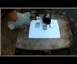 Casting Lead Into a Match Box and a Paper Tube