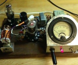 40M QRP Transmitter Using A 6CU6 Tube