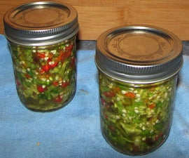 """Hellish"" Hot Pepper Relish"