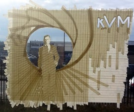 Max Zorn Inspired Tape On Window Art