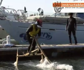 "DIY Human Powered Wooden Hydrofoil  - The ""Hydrothopter"""