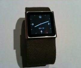 Turn your Ipod Nano into a watch with a belt
