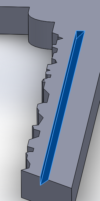 Picture of Finish the Extruded Cut
