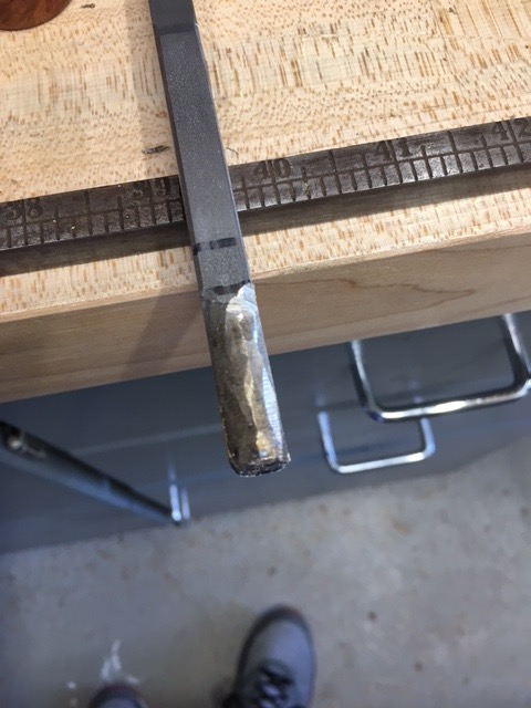 Picture of Hand Grind the 304 SS to Better Fit in the Handle