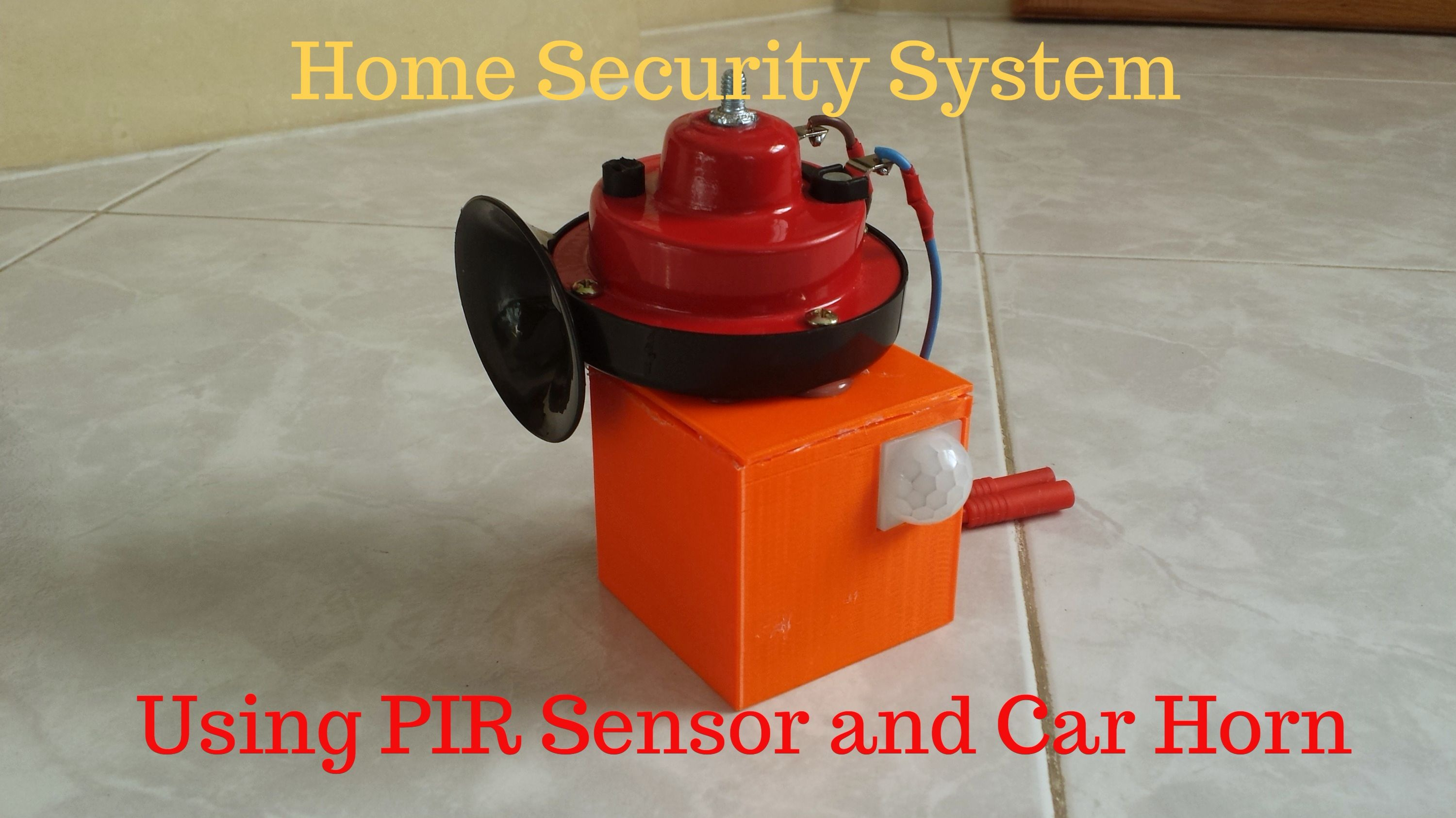 Picture of Arduino PIR Security System Using Car Horn