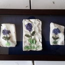 how to display keepsakes  in a shadow box without  gluing them down