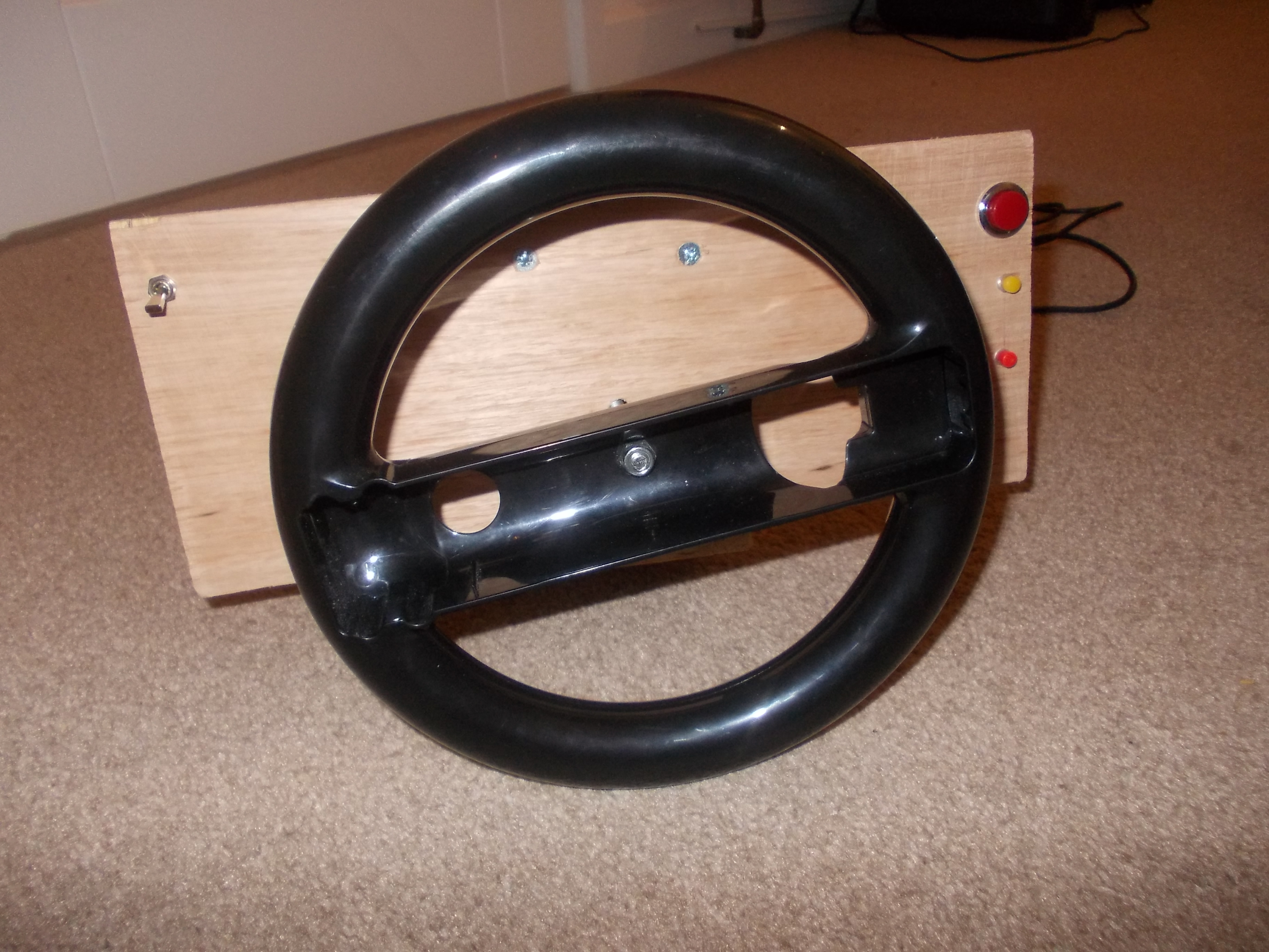 Picture of Homemade Pc Steering Wheel