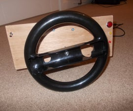 Homemade pc steering wheel