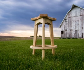 Modern Shop Stool From Two 2×4s