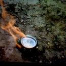 Acetone fueled camp stove