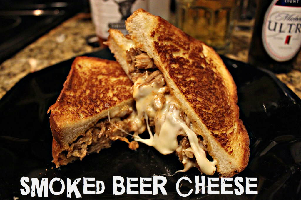 Picture of Smoked Beer-cheese Pulled Pork Sandwich!