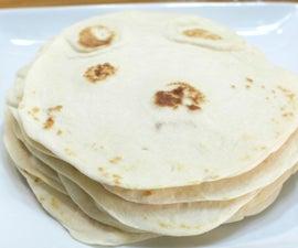 Easy Soft Flour Tortillas