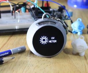 UV Meter & Breathalyzer Keychain - 3D Printed - IoT Blynk