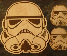 Storm Trooper Cutting Board, Cheese Board, or Coasters