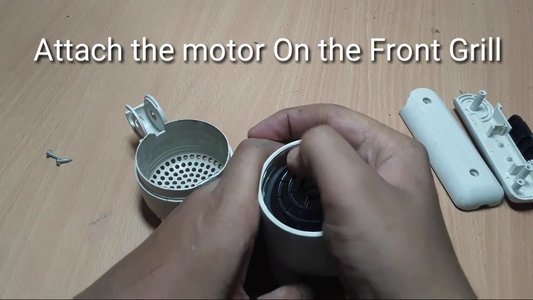 Mount the Motor in the Front of the HairDryer!