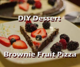 DIY Dessert Brownie Fruit Pizza
