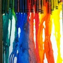 Fun and Easy melted crayon art for kids