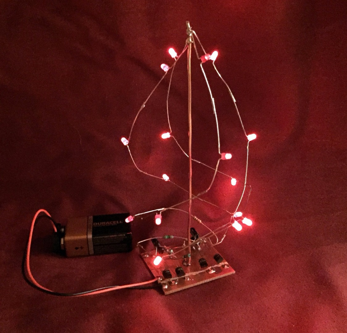 Picture of Free-form Soldering LED Tree