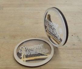 Laser Cut Wood and Plastic Logo