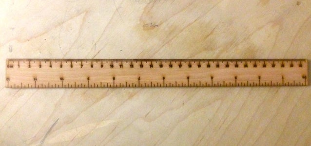 """12"""" Ruler Template for Laser Cutters"""