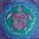 """""""Purple Turtle"""" Silk Painting"""