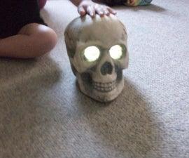 Hack a Solar Yard Light into a Creepy Skull Yard Light for around $10