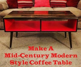 Make a Mid-Century Modern Style Coffee Table Easy & Cheap