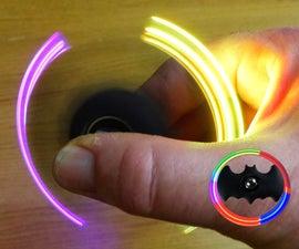 Batman Led Fidget Spinner With Clay Polymer