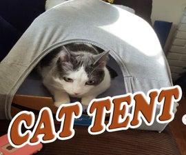 Cat Tent From Repurposed Materials
