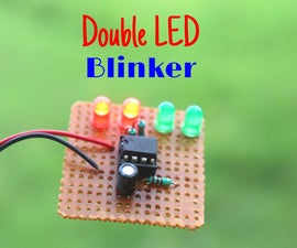 How to Make Double LED Blinker Circuit on PCB