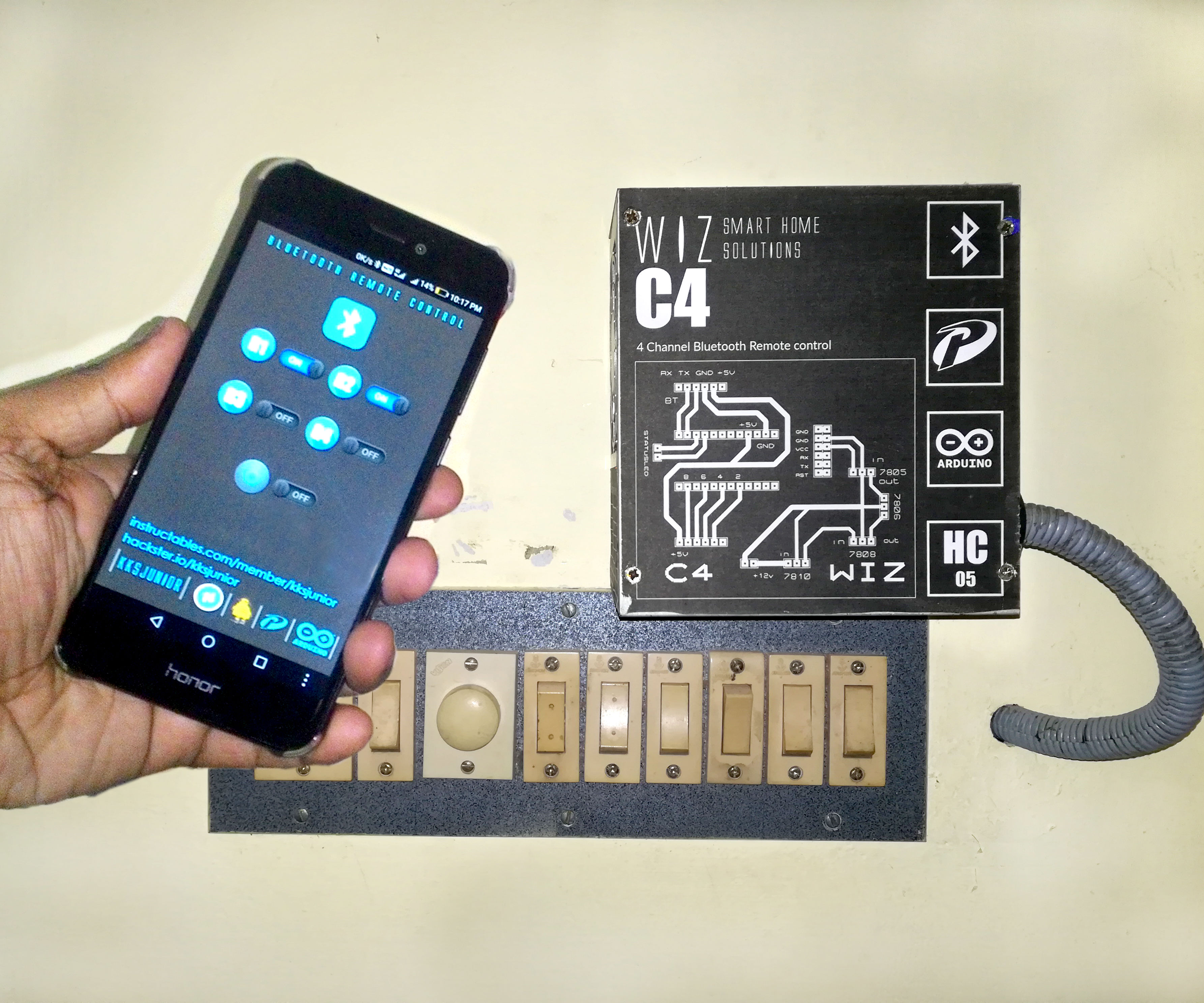 Simplest Home Automation Using Bluetooth, Android Smartphone