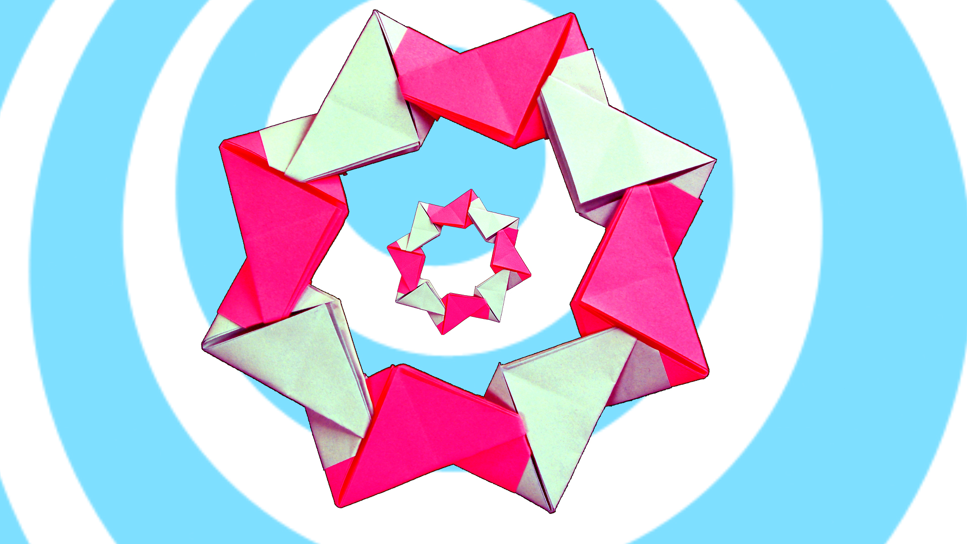 Picture of Easy Modular Origami Wreath (8 Units)