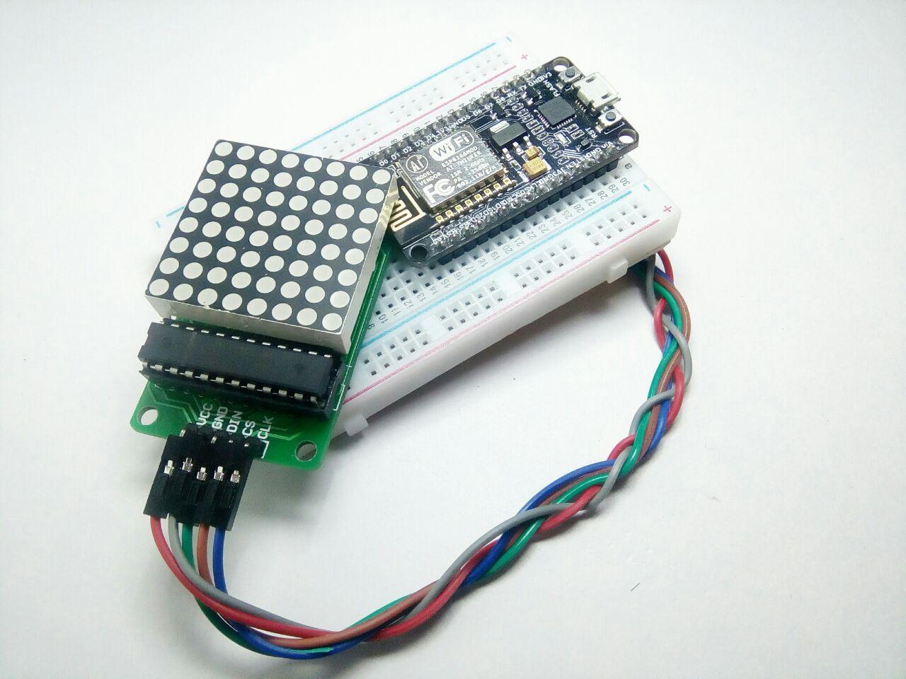 Picture of Interface LED Dot Matrix (8x8) With NodeMCU