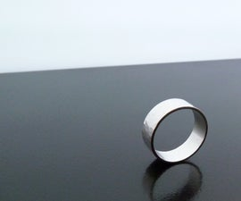 A simple Sterling Silver Band Ring