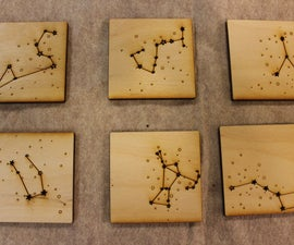 Constellation Coasters and Stand (Laser Cut)