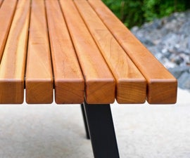 Modern Outdoor Dining Table and Pergola Build