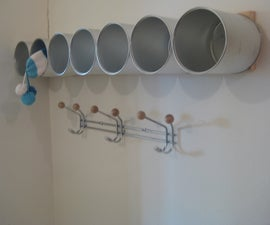 Storage Unit From Baby Formula Cans