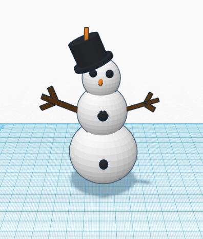 Picture of Snowman: Step 4 (Final)