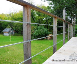 DIY Inexpensive Deck Rails Out of Steel Conduit!