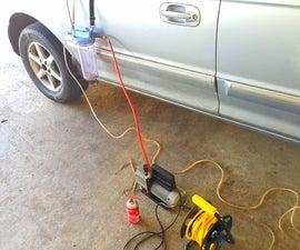 Vacuum bleeding brake lines - the one man job. (Hyundai trajet 2000)