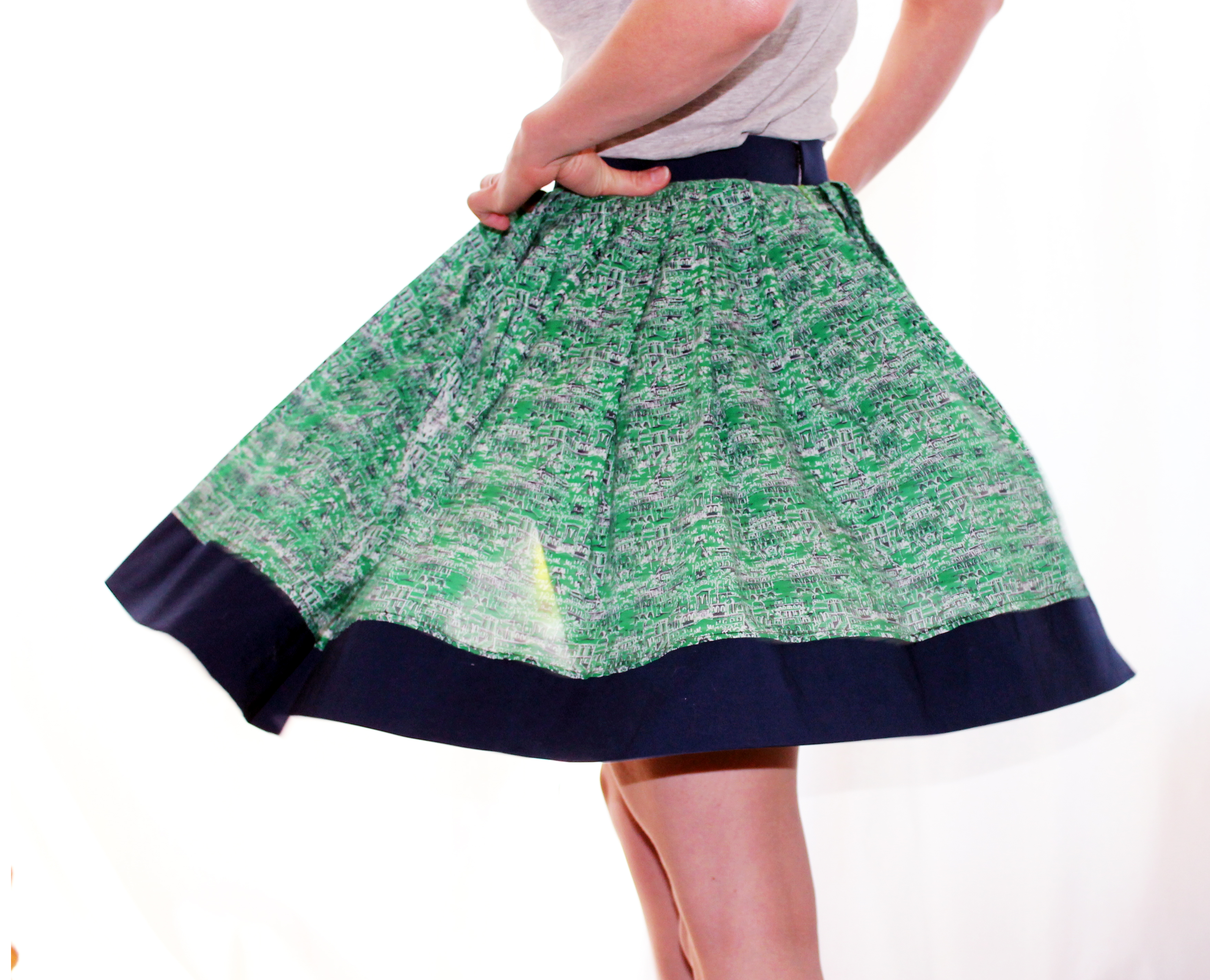 Picture of Easy Pleated Skirt - No Pattern Needed