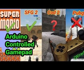 ARDUINO CONTROLLED GAMEPAD FOR PC