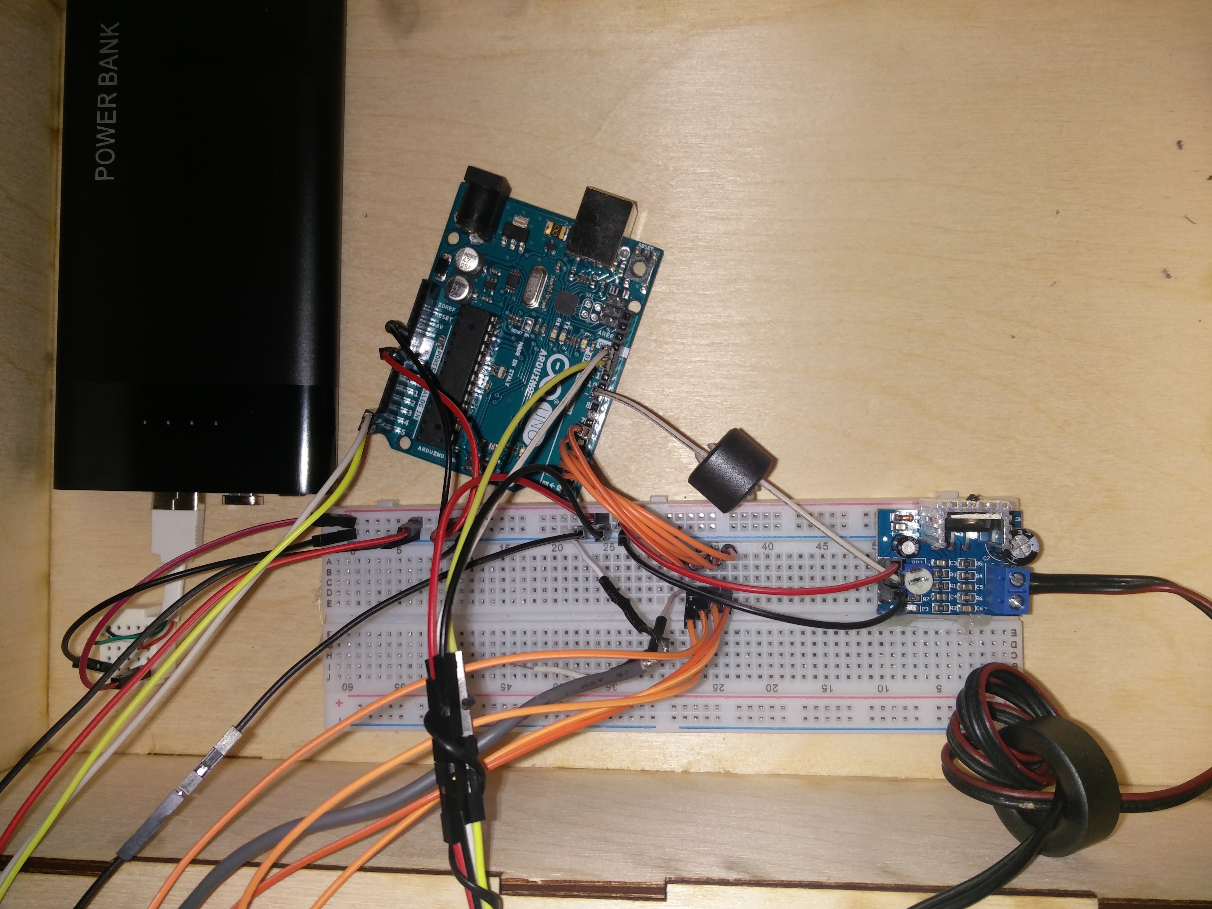 Picture of Assembling the Components (testing Phase)