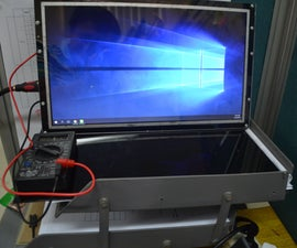 Repurposed Battery-Powered Laptop Monitor