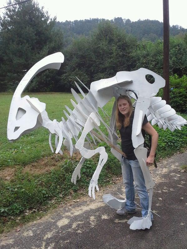 Cheap Dinosaur Skeleton Costume