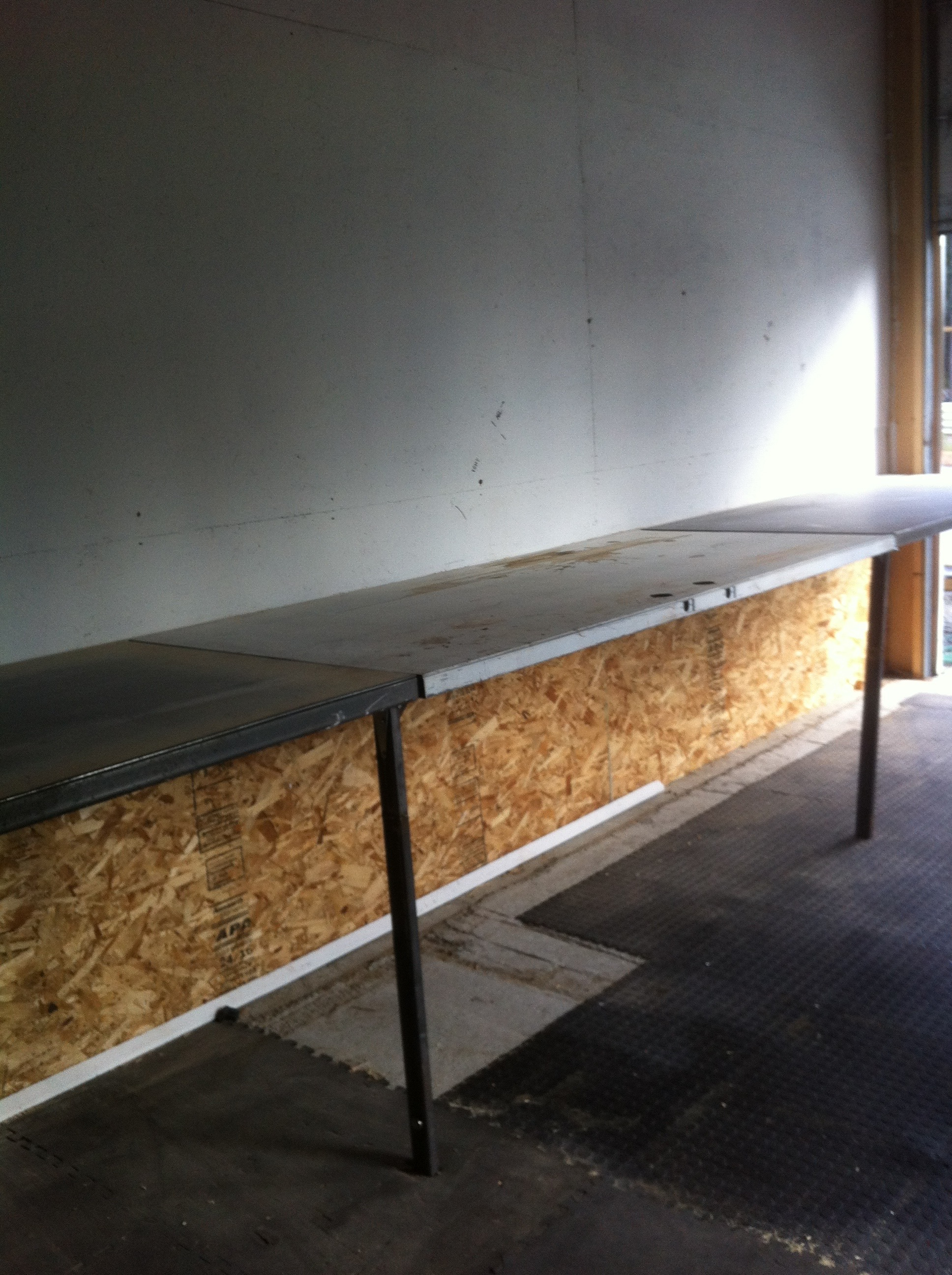 Picture of Fold Up and Down Metal Benchs